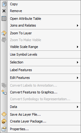 Layer Context Menu