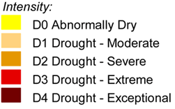 US Drought Monitor Legend