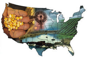 U.S. Agriculture Display Map