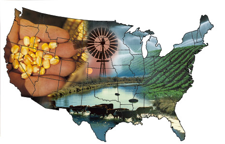 u s agriculture display map