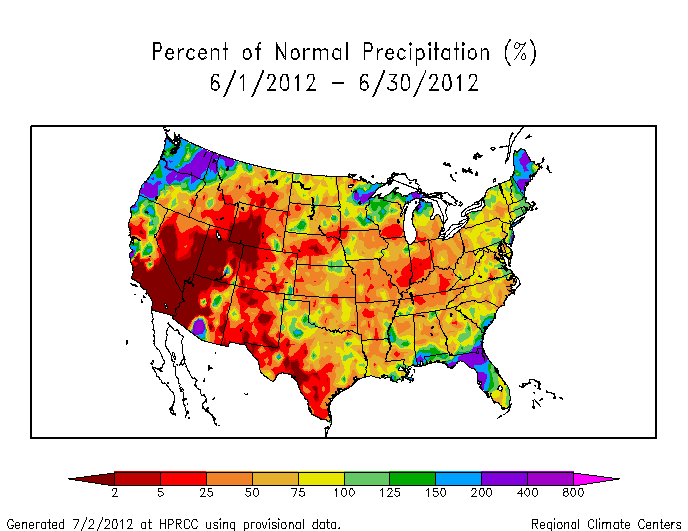 Drought June State Of The Climate National Centers For - Current weather map western us