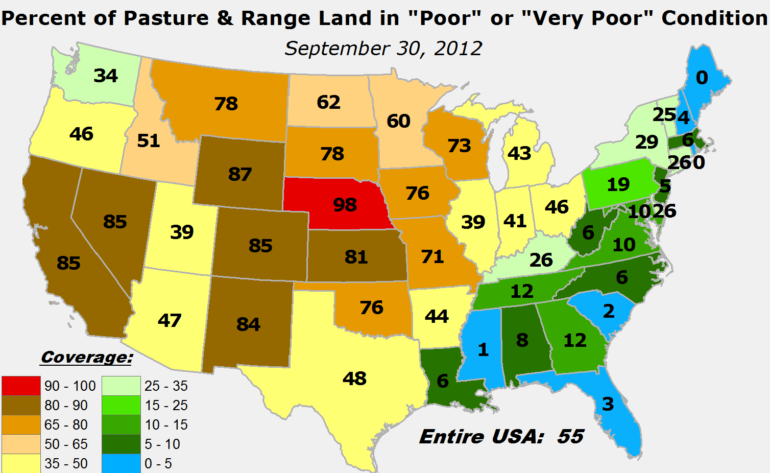 Simple Maps That Reveal How American Agriculture Actually Works - Us agriculture map