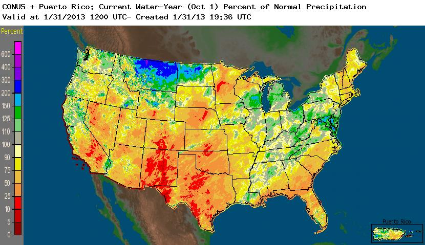 Drought January State Of The Climate National Centers - Nws us regions map