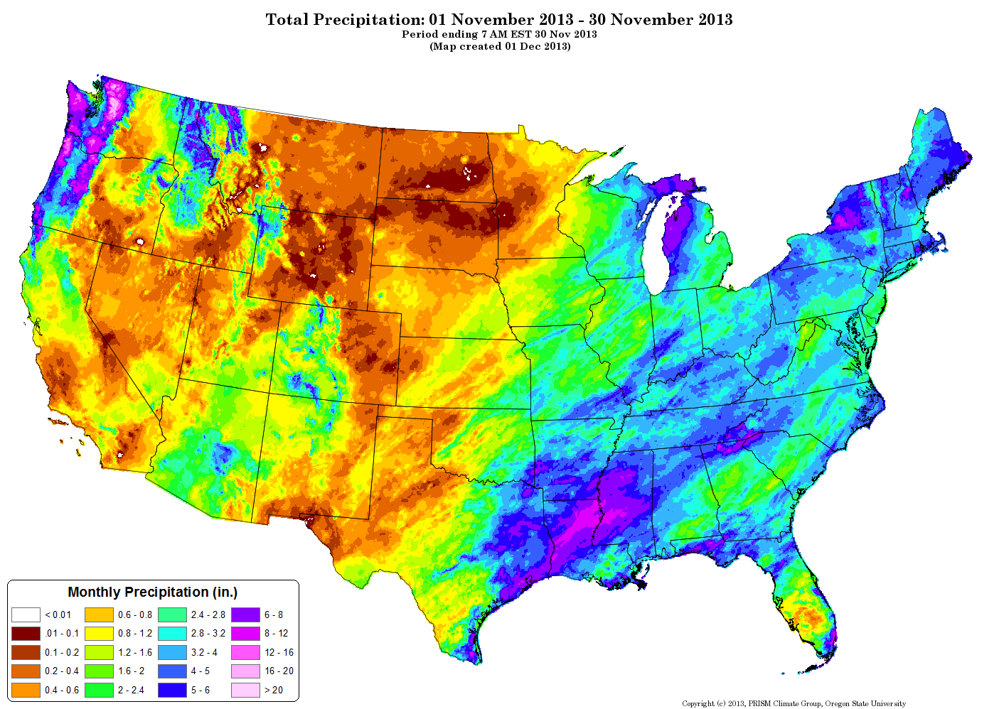 Drought November State Of The Climate National Centers - United states precipitation map