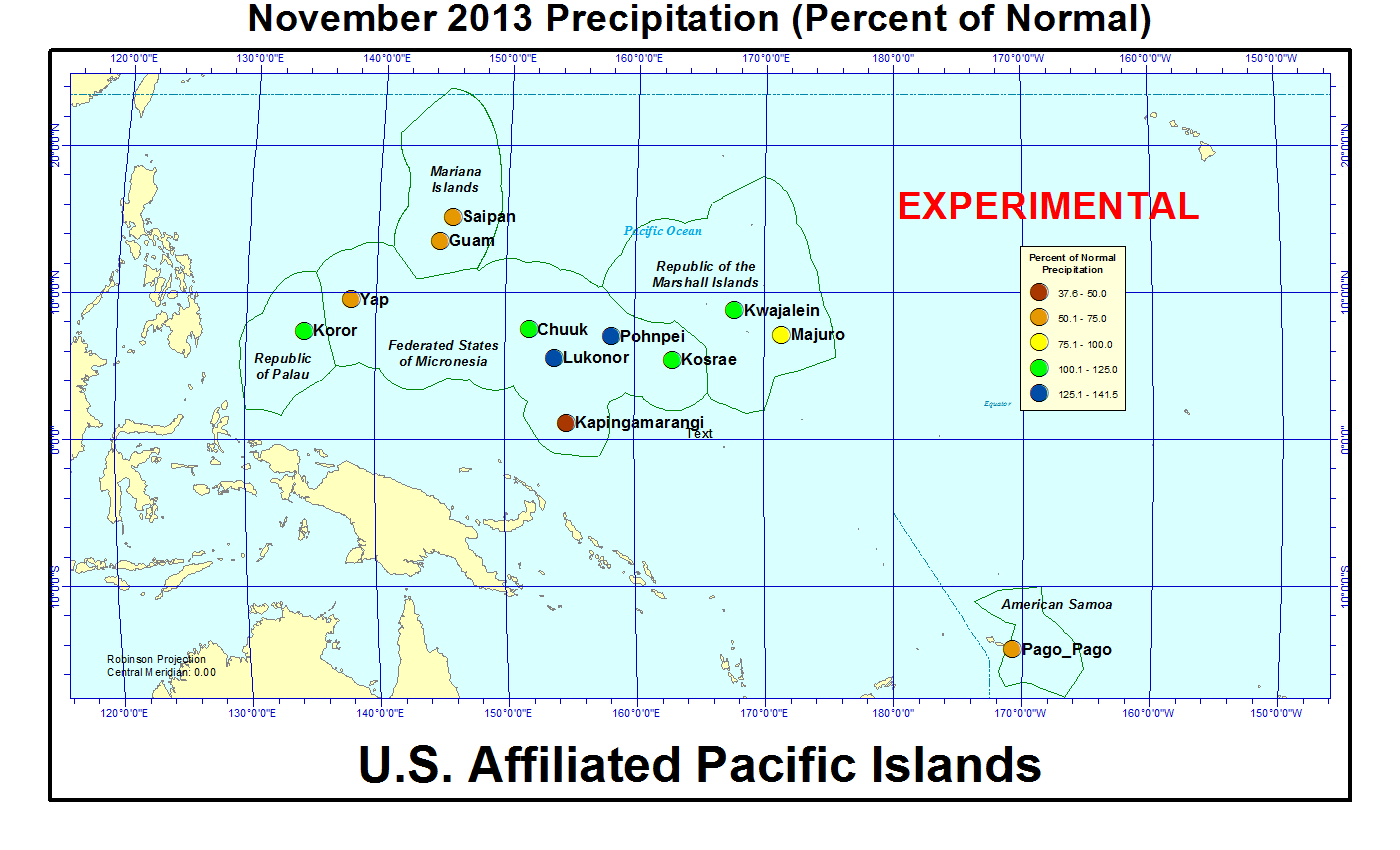 Drought November State Of The Climate National Centers - Us pacific islands map