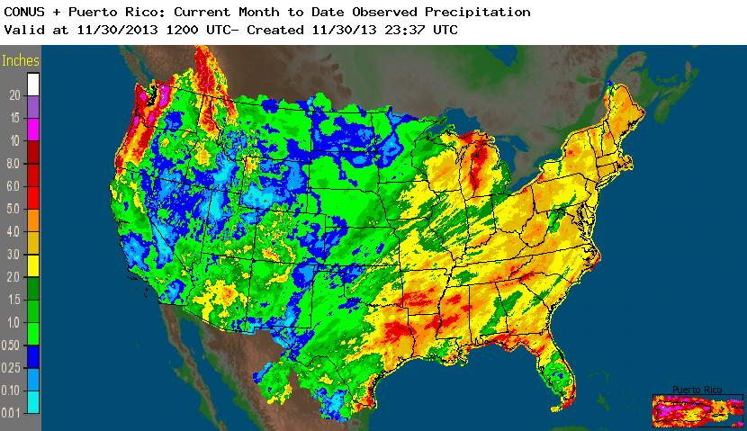 NOAA NWS (National Weather Service) Precipitation Amount
