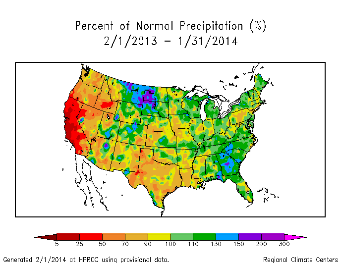 Drought January 2014 State of the Climate National Centers