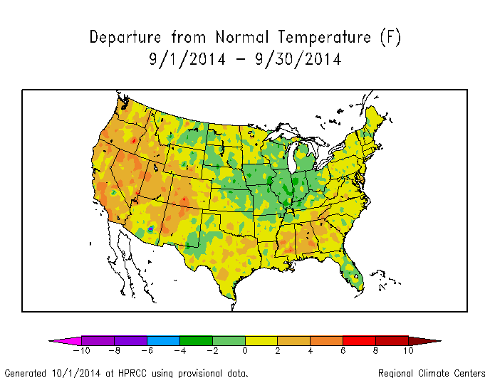 Synoptic Discussion September State Of The Climate - Map of weather patterns in the us