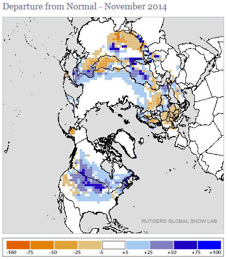 Synoptic Discussion November State Of The Climate - Us snow cover map noaa