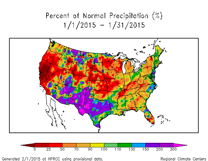 National Climate Report January State Of The Climate - Us map rainfall