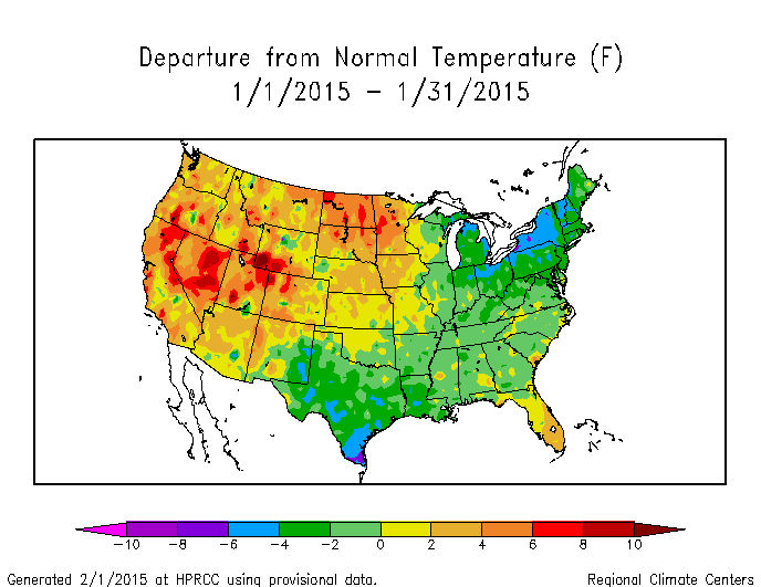 Drought January State Of The Climate National Centers - Januaray temperatures us map