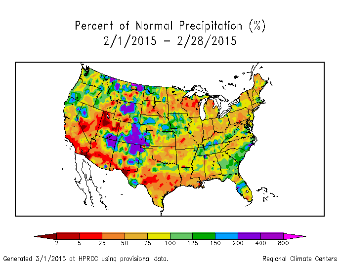 Drought February State Of The Climate National Centers - Us snow cover map noaa