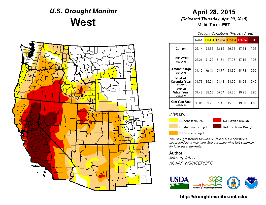 Drought  April 2015  State of the Climate  National Centers for