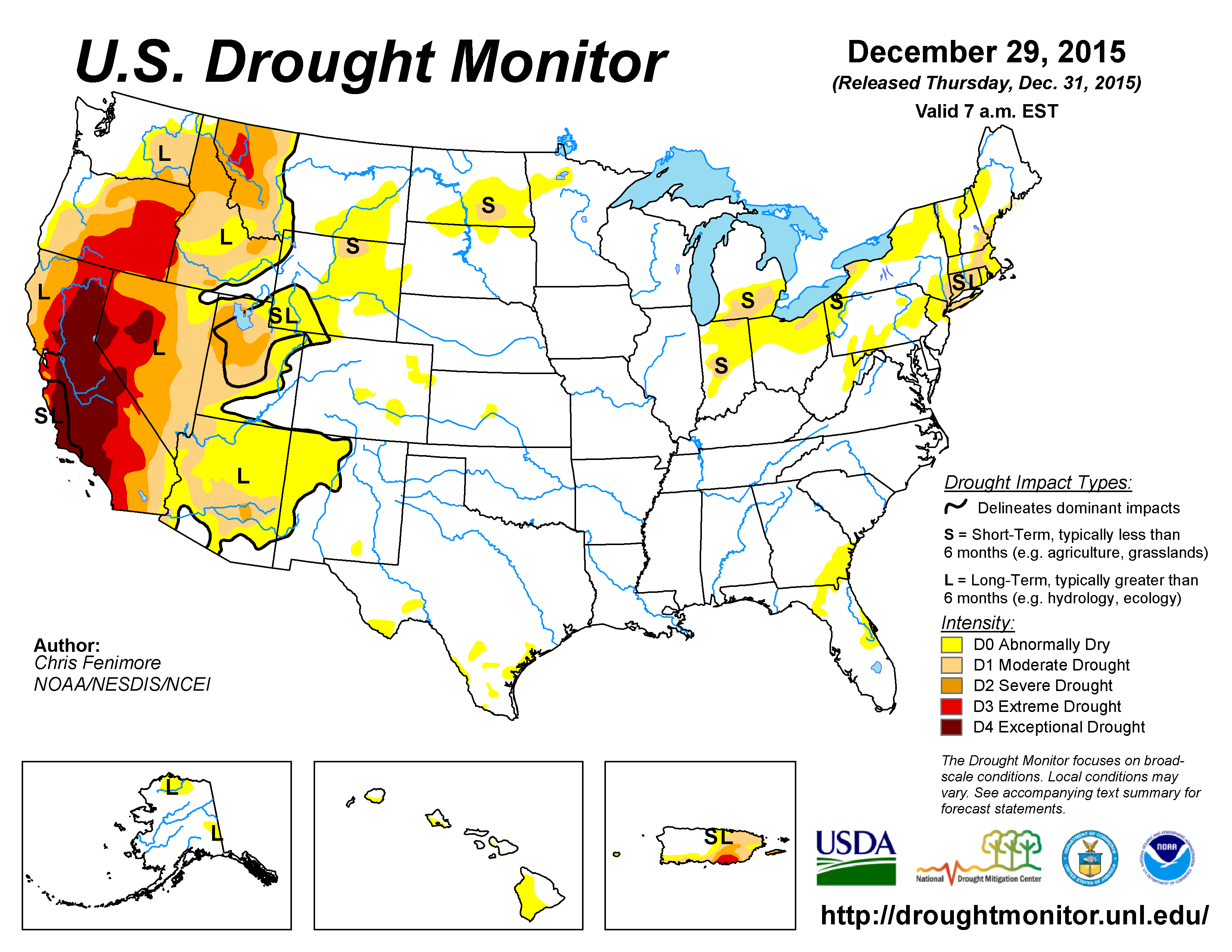Drought Annual State Of The Climate National Centers - Drought forecast us map