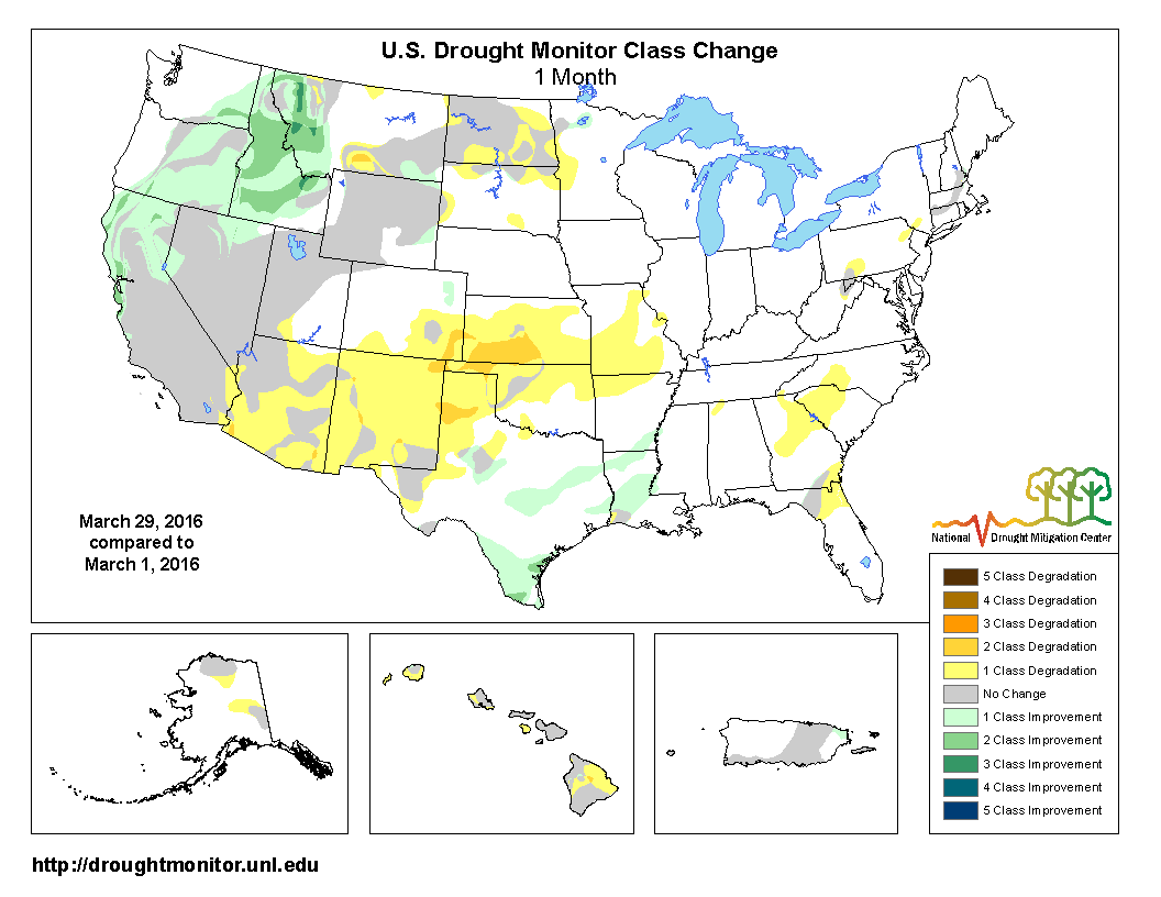 overall the national moderate to exceptional drought footprint grew slightly to 12 8 percent of the u s as a whole and 15 1 percent of the conus