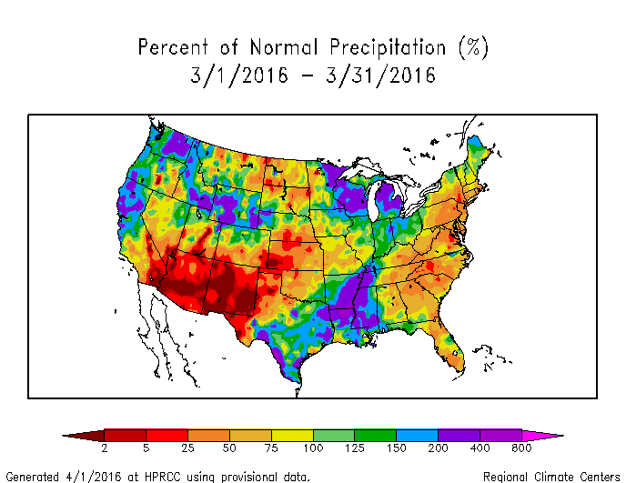 Map Of Monthly Precipitation Anomalies
