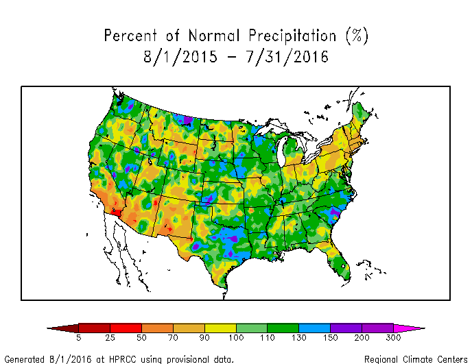 Drought July State Of The Climate National Centers For - United states precipitation map