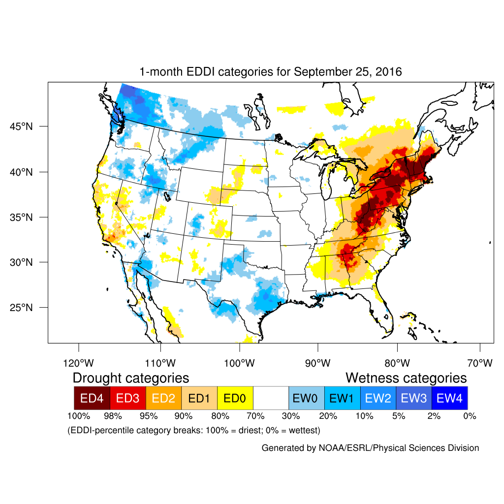 Drought September State Of The Climate National Centers - Us map east of mississippi river