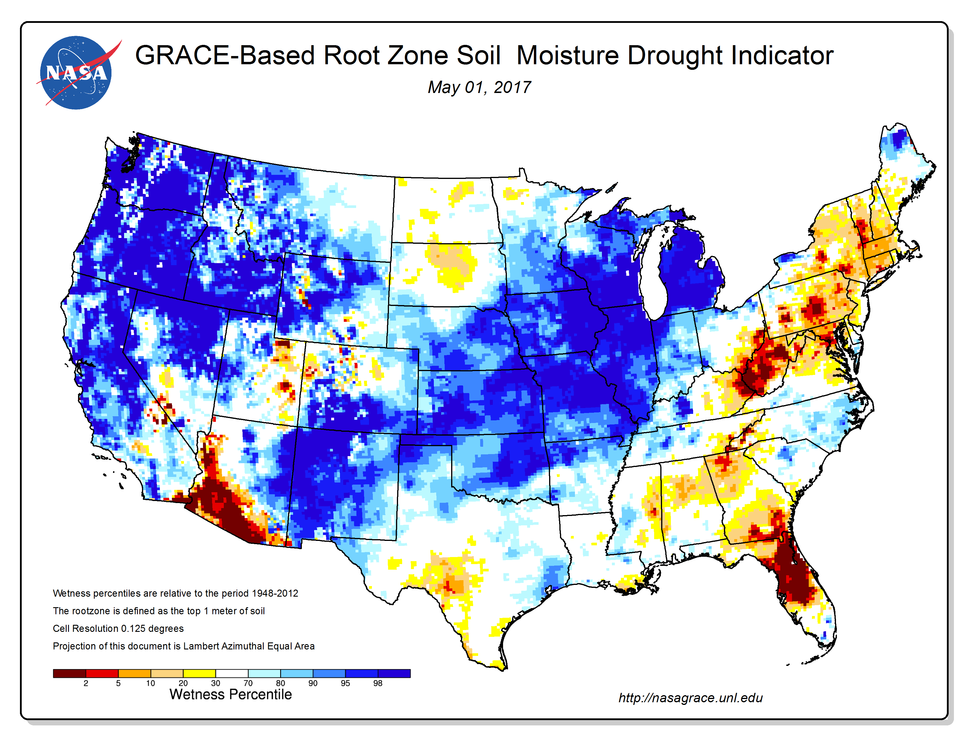 Nasa Grace Estimates And Streamflow Levels These Indicators Reflected Dry Conditions Especially In The Southeast On A National Scale As Of May 2