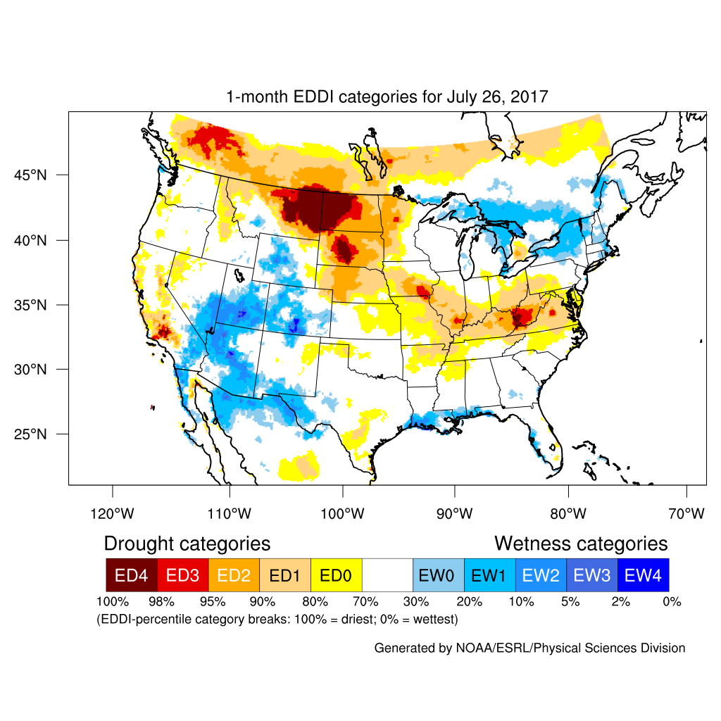 Drought July State Of The Climate National Centers For - Us moisture map
