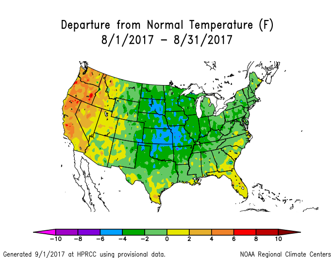 The Last One To Three Months Have Been Unusually Hot And Dry In The West Especially In The Northwest August