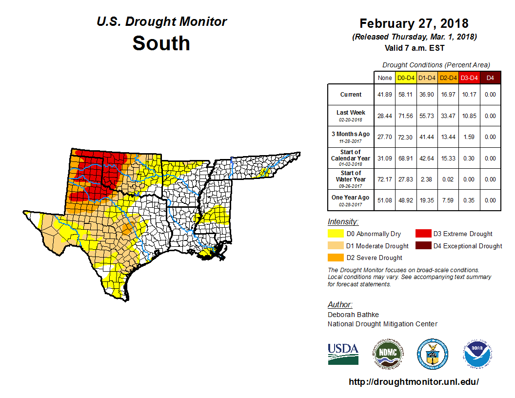 Drought - February 2018   State of the Climate   National Centers ...