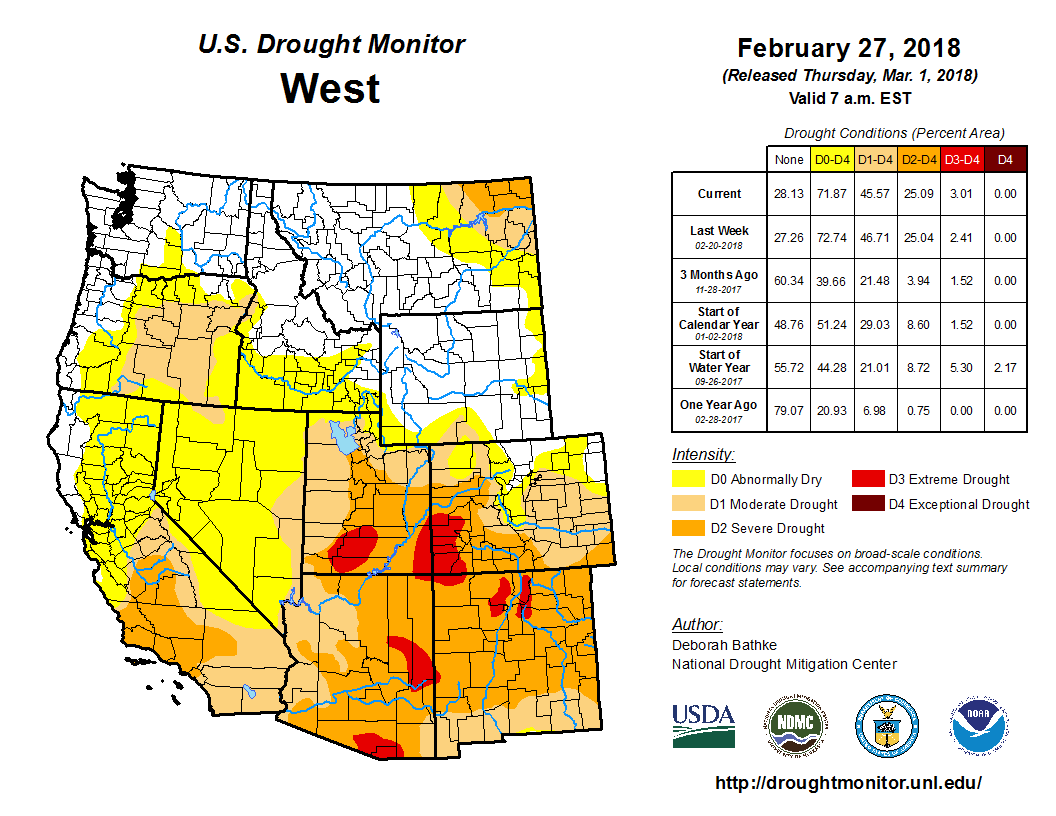 Drought - February 2018 | State of the Climate | National Centers ...