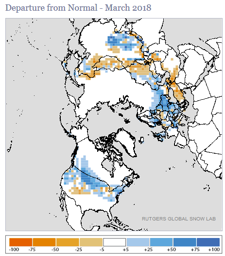 Global Snow and Ice - March 2018 | State of the Climate | National ...