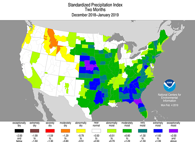 2-month Standardized Precipitation Index