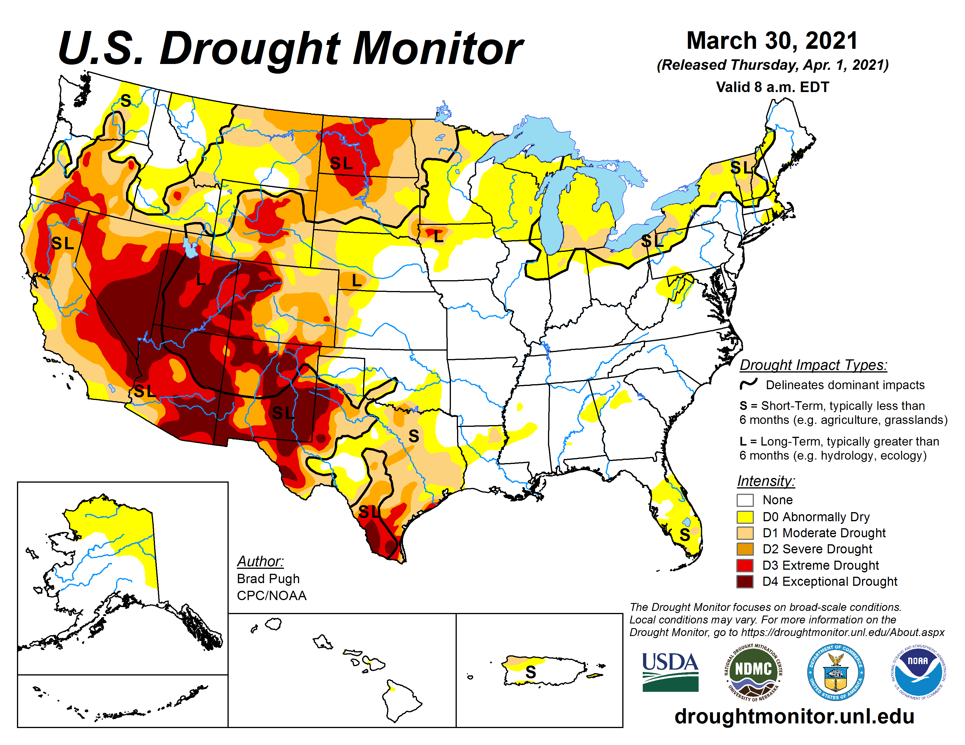 Drought - March 2021 | State of the Climate | National Centers for  Environmental Information (NCEI)