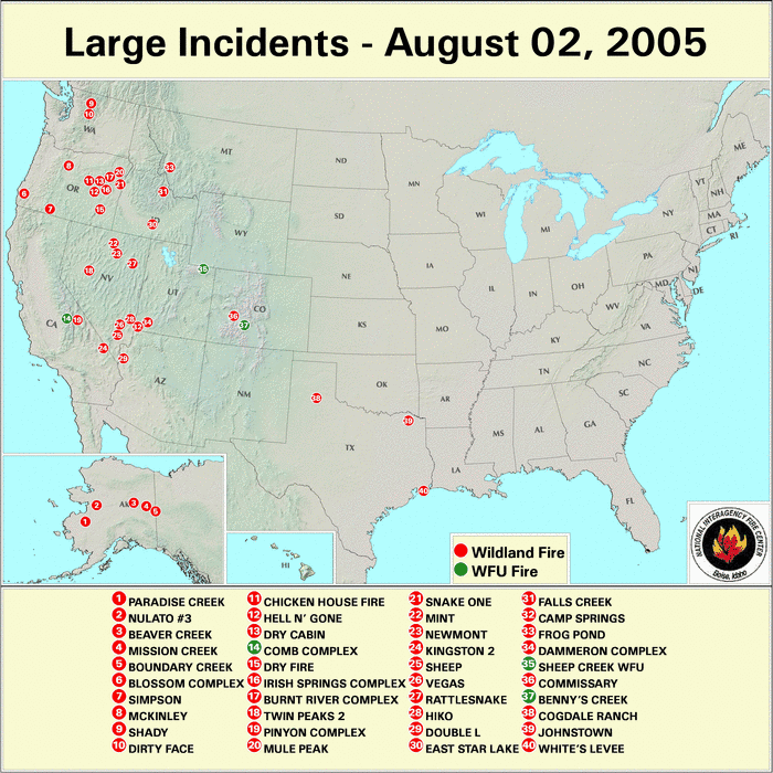 Wildfires July 2005 State Of The Climate National Centers For