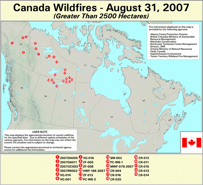 Wildfires August 2007 State Of The Climate National Centers