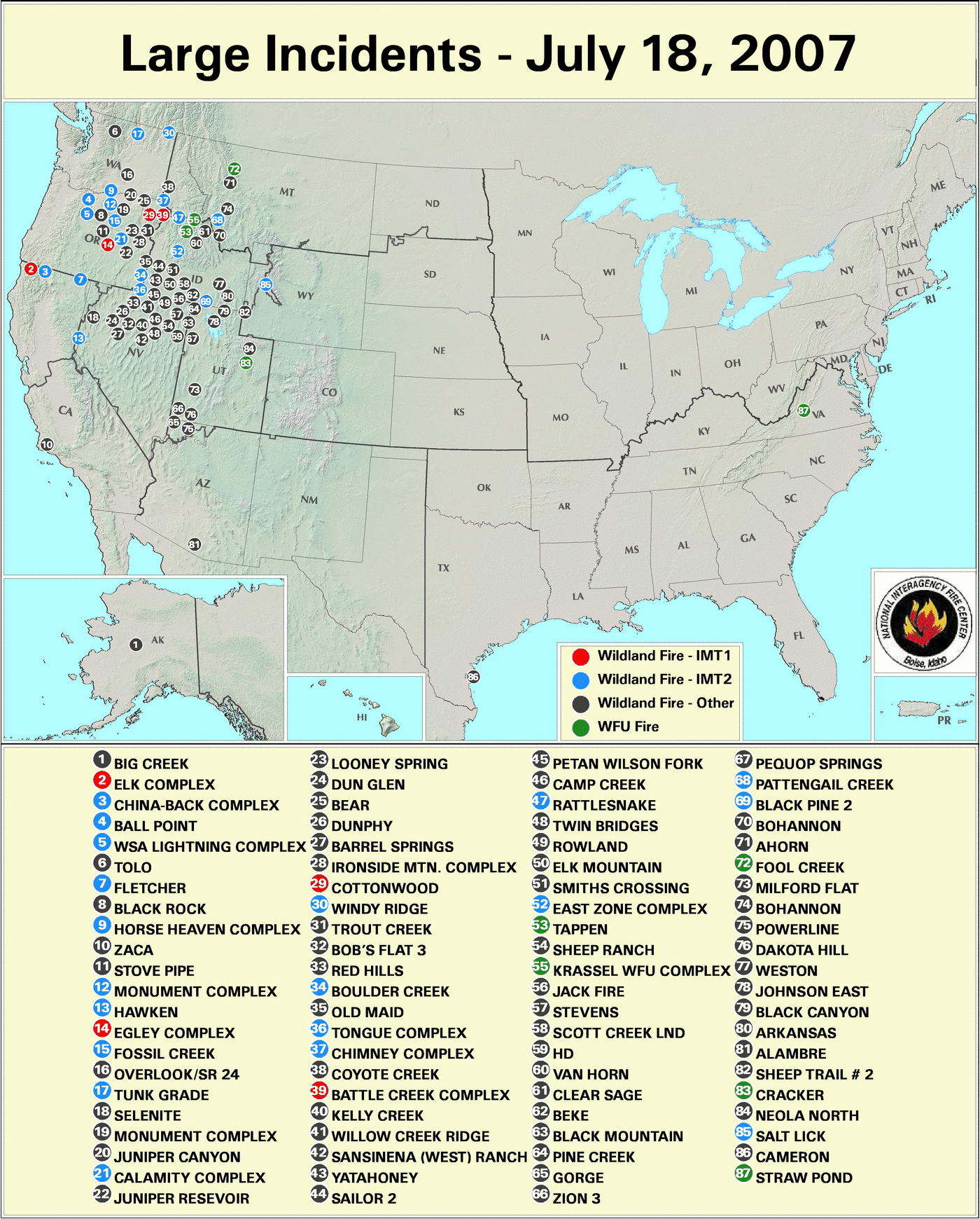 Wildfires July 2007 State Of The Climate National Centers For