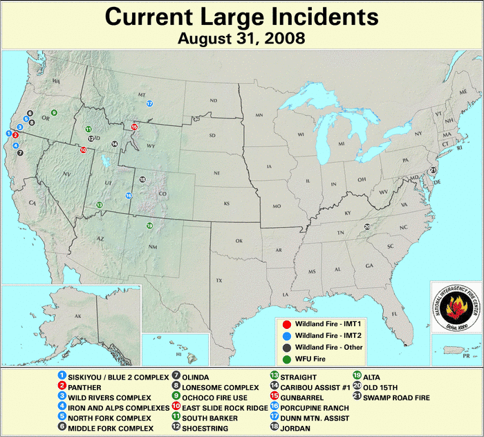 Wildfires August 2008 State Of The Climate National Centers