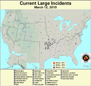 Large Fire Map for March 12
