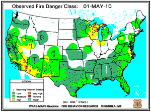 Fire Danger Map for May 1