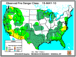 Fire Danger Map for May 15