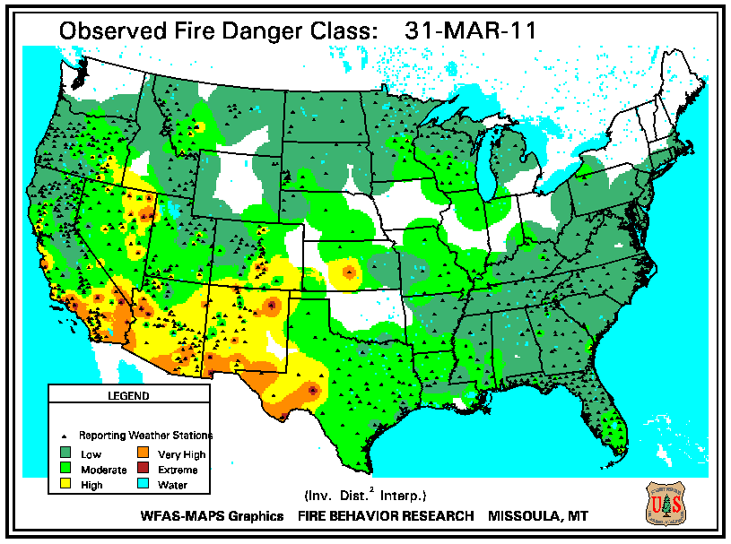 Map Of Georgia Fire.Wildfires March 2011 State Of The Climate National Centers For