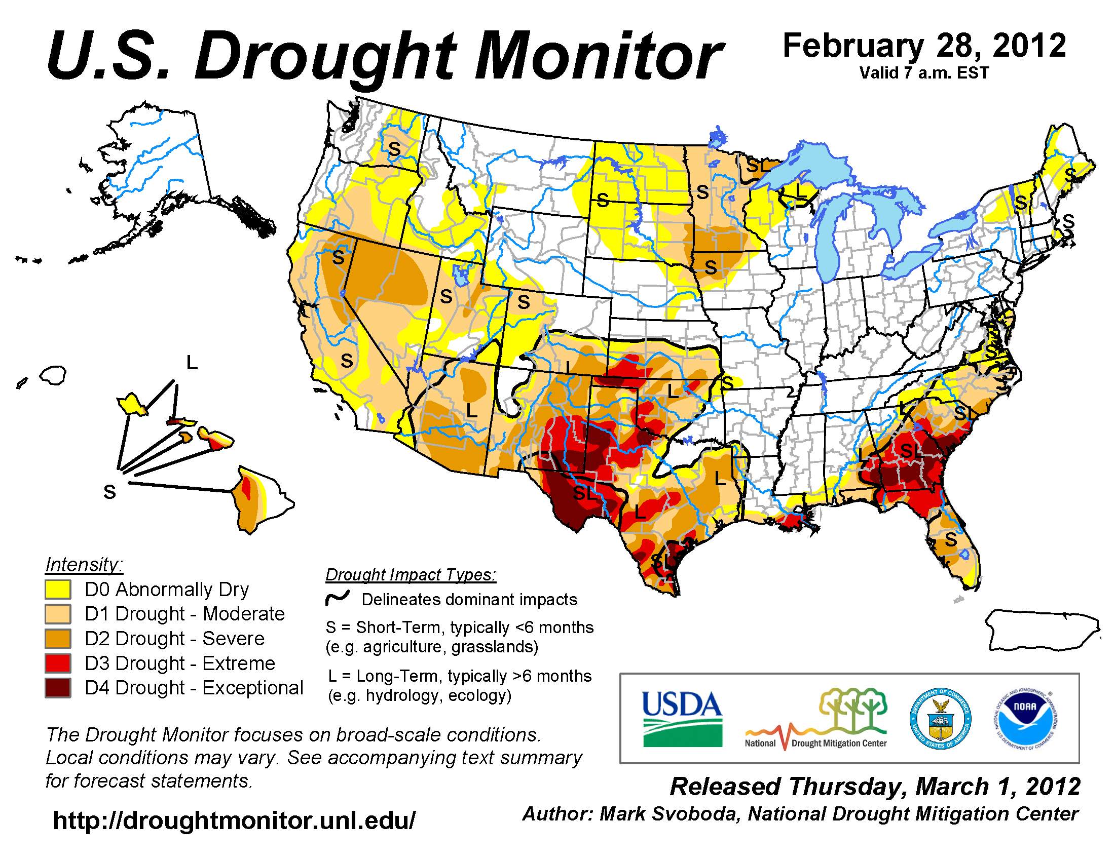Wildfires February State Of The Climate National - Us drought map forecast