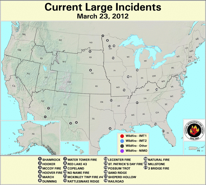 Wildfires March 2012 State Of The Climate National Centers For