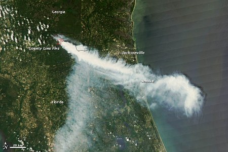 Satellite Image of County Line Fire