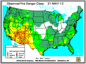 Fire Danger Map for May 31