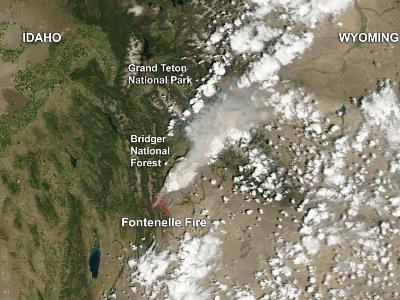 Satellite Image of Colorado Fires