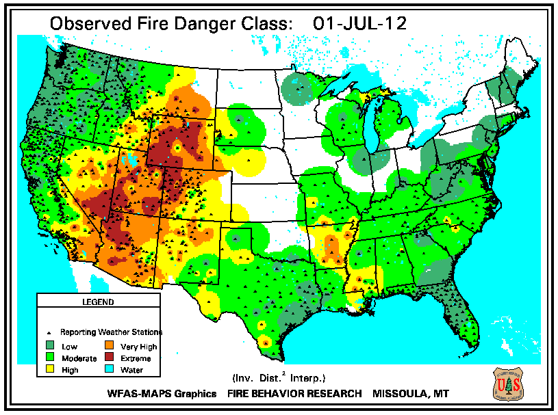 Wildfires July 2012 State of the Climate National Centers