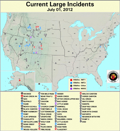 Large Wildfires July1