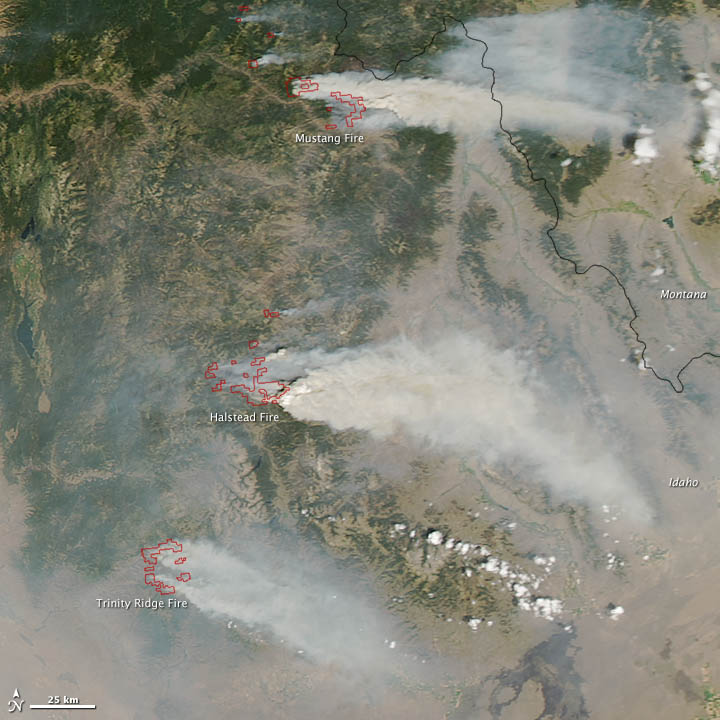 14 August 2012 Satellite Image of Idaho Fires