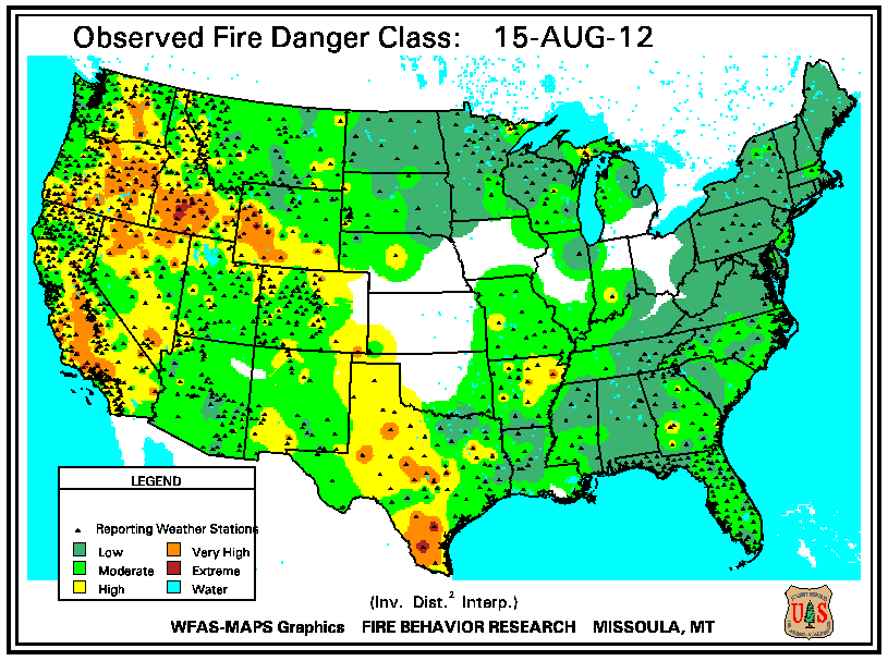 Wildfires - August 2012 | State of the Climate | National Centers ...