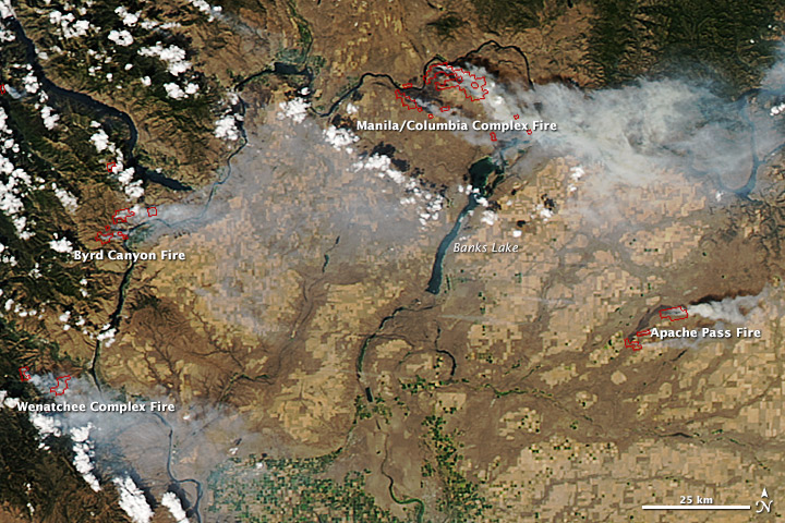 10 September 2012 Image of Washington Fires