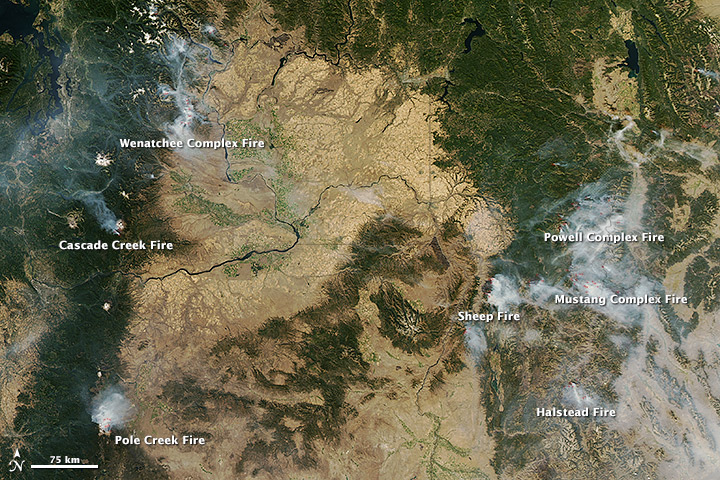 17 September 2012 Image of Western Fires