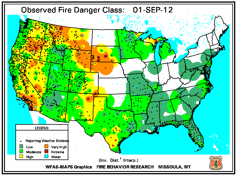 Wildfires September 2012 State of the Climate National